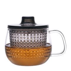 利快Kinto日本进口耐热玻璃小茶壶  过滤茶杯 350ml 家用办公图片