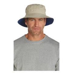 Coolibar 多国防晒机构认证 超便携宽檐可折叠男士 渔夫帽 UPF50+图片