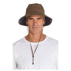 Coolibar 多国防晒机构认证 超便携羽轻宽檐可折叠男士 渔夫帽 UPF50+图片