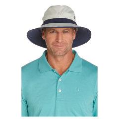 Coolibar 多国防晒机构认证 轻便超透气宽檐男士 专业高尔夫球帽 UPF50+图片