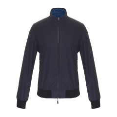 ERMENEGILDO ZEGNA/杰尼亚 男士立领棉质纯色两面穿休闲外套 UCT01-322 YA-114 男士夹克图片