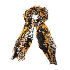 Dolce&Gabbana/杜嘉班纳围巾-女士豹纹印花+黄围巾/丝巾图片
