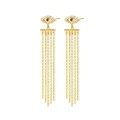 Diamantipertutti/Diamantipertutti耳坠,925银镀铑、镀18k金玫瑰金、镀18k黄金,镶嵌蓝宝石和0.072克拉钻石图片