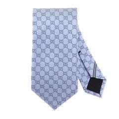 GUCCI/古驰 20年春夏 GG 图案领带 男性 时尚百搭 领带 456520 4B002 4968