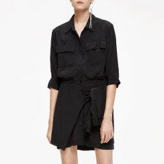 MO&Co./摩安珂女士连衣裙2019夏季新品翻领个工装风格假两件连衣裙MAI2DRS021图片