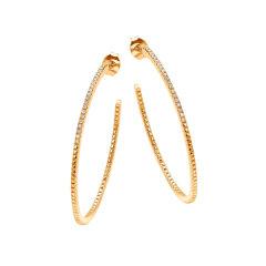 Diamantipertutti/Diamantipertutti耳环,925银镀铑、镀18k金玫瑰金、镀18k黄金,镶嵌0.144克拉钻石图片