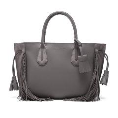 19春夏Longchamp/珑骧女士Pénélope系列牛皮中号流苏手提包1295HLU图片
