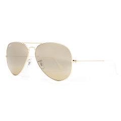 Ray-Ban/雷朋 男女款太阳镜 RB3025 001系列 58/62mm 飞行员蛤蟆镜金色镜框渐变反光镜面墨镜眼镜图片