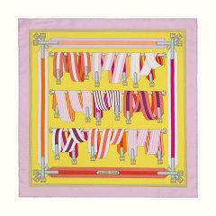 【礼盒装 45cm】HERMES/爱马仕  印花方形女士丝巾# H891730S 29图片