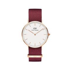 Daniel Wellington/丹尼尔惠灵顿dw进口红色表带简约潮流石英女士手表图片