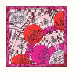 【19春夏 礼盒装 45cm】HERMES/爱马仕 拼接图案真丝方形女士丝巾# H891569S 27图片