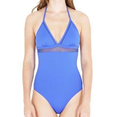 JOG/JOG 19新品女士挂脖V领镂空蕾丝露背连体泳衣泳装女士泳衣图片