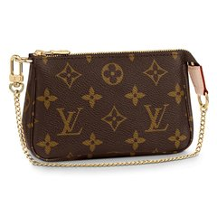 Louis Vuitton/路易威登 LV女包MINI POCHETTE ACCESSORIES 老花迷你零钱包麻将包M58009图片