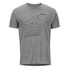 Marmot/土拨鼠2019夏季运动户外休闲透气防晒男士短袖棉感速干T恤_R44190图片
