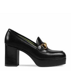 GUCCI/古驰 20年春夏 粗跟 女性 8.5cm 防水台 浅口 黑色 高跟鞋 572228 0G0V0 1000图片