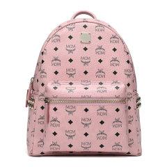 MCM 女士经典侧钉字母组合LOGO印花MCM双肩包背包书包中小号女包 多色可选图片