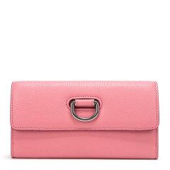 【包邮包税】BURBERRY/博柏利 女士纯色D环羊皮长款钱夹钱包卡包手拿包女包 4074955图片