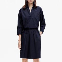 MO&Co./摩安珂女士连衣裙2019夏季新品抽绳松紧腰翻领衬衫连衣裙MAI2DRS031图片