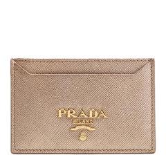 PRADA/普拉达 女士纯色LOGO牛皮卡夹卡包名片夹 多色可选图片