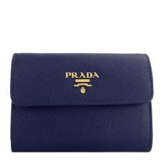 PRADA/普拉达 女士纯色LOGO三折女士钱包钱夹零钱包卡包女包 多色可选图片