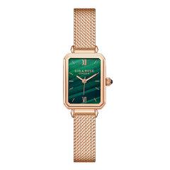【2019年新品】LOLA ROSE/珞拉芮丝  孔雀石纹理绿色表盘手表时尚简约石英手表女 女表 小方表图片