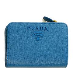 PRADA/普拉达 女士纯色LOGO短款两折零钱包钱夹 女包 多色可选图片