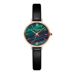 【风靡INS—小绿表】LOLA ROSE/珞拉芮丝 英国宝石腕表品牌孔雀石纹理绿色表盘手表时尚简约石英手表女 女表图片