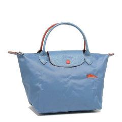 Longchamp/珑骧 LE PLIAGE系列 女士蓝色logo小号短柄手提包肩背包挎包饺子包通勤包可折叠女包 1621619564图片