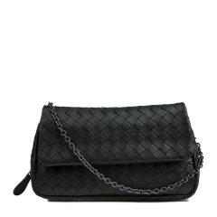 【包税】Bottega Veneta/葆蝶家 女士羊皮编织链条包单肩斜挎包图片