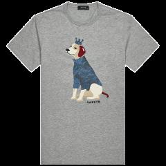 【商场同款】HAZZYS/哈吉斯 夏装新款男士短袖T恤衫时尚简约纯色棉T恤 ASTZE08BE37图片