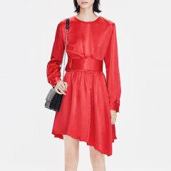 MO&Co./摩安珂女士连衣裙2019春季新品圆领松紧腰不规则连衣裙MAI1DRS019图片