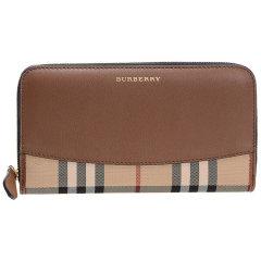 BURBERRY/博柏利 女士经典纹织物/配皮长款拉链钱夹钱包 40249781 40249801图片