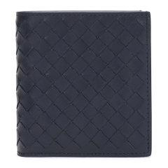 【包税】Bottega Veneta/宝缇嘉 男士小牛皮经典编织短款钱包钱夹图片