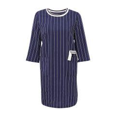 【DesignerWomenwear】MONOSPACE/单一空间圆领条纹女士连衣裙图片