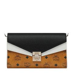 【包邮包税】MCM 女士时尚字母印花翻盖信封包链条包单肩包斜挎包女包 多色可选图片