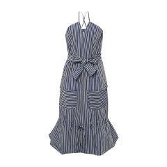【DesignerWomenwear】MONOSPACE/单一空间时尚条纹吊牌蝴蝶结女士连衣裙图片