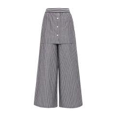 【DesignerWomenwear】MONOSPACE/单一空间简约百搭条纹女士休闲裤图片