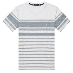 【商场同款】HAZZYS/哈吉斯 2019夏季新款圆领条纹男士短袖T恤TASTZE09BE45图片