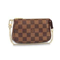 Louis Vuitton/路易威登  麻将包 经典款(棕色;白色)手拿包图片