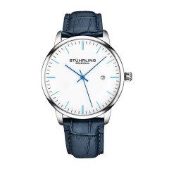 【每满2000返500】Stührling/施图霖 简约石英日历手表 时尚超薄休闲手表 男士皮带腕表 3997图片
