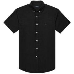 【商场同款】HAZZYS/哈吉斯 2019春夏新款纯色简约男士短袖衬衫ATCZK19BX01图片