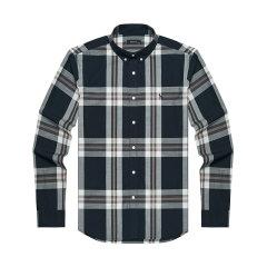 【商场同款】HAZZYS/哈吉斯 2019春夏新款英伦格子男士长袖衬衫格纹男衬衣ASCZK19AK02图片