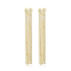【Designer Jewelry】【博主同款】Lasvenia/Lasvenia 爱心轮廓流苏耳饰 时尚女士925银耳饰耳环耳钉图片