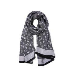 【包税】Louis Vuitton/路易威登 LV  女士 围巾 Monogram 经典logo图案真丝羊毛围巾 方巾 披肩 M71376图片
