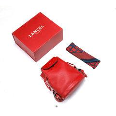 LANCEL/兰姿 19年秋冬新品 LE HUIT系列女士双肩背包/水桶包 红色 A08164IRTU 女款 牛皮革图片