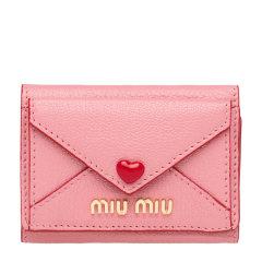 Miu Miu/缪缪 女士Love标识皮革钱包 5MH021_2BC3 19年秋冬图片