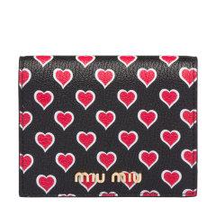 Miu Miu/缪缪 女士通体Love标识皮革钱包 5MV204_2BCZ图片