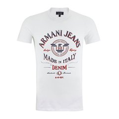 ARMANI JEANS/阿玛尼牛仔男士T恤-棉质圆领字母印花图案-男士短袖T恤图片