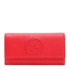 【包税】GUCCI 古驰 女士双G牛皮长款钱包钱夹图片