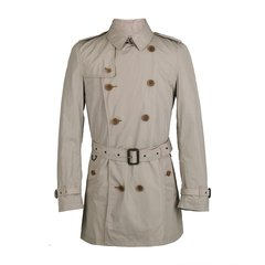 BURBERRY/博柏利 20春夏 男士 服装 BRIT系列 男士聚酯纤维混纺双排扣系带风衣 男士风衣图片